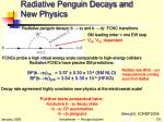radiative penguin decays and new physics1