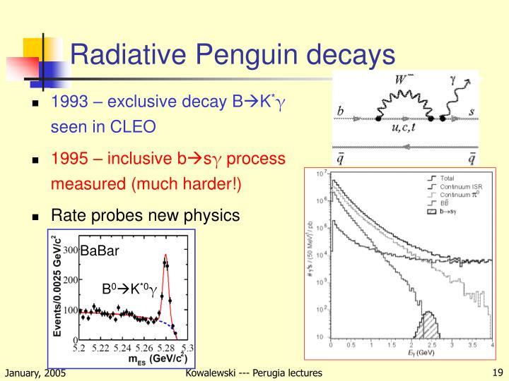 Radiative Penguin decays