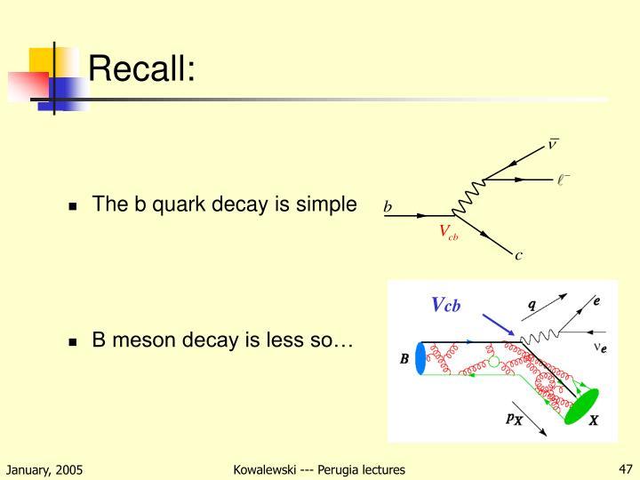 Recall:
