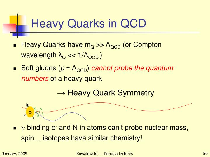 Heavy Quarks in QCD