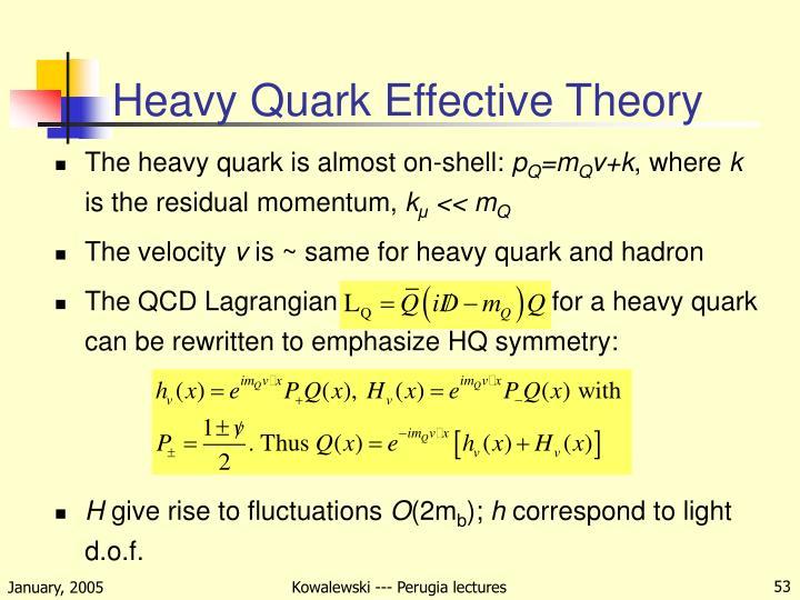 Heavy Quark Effective Theory