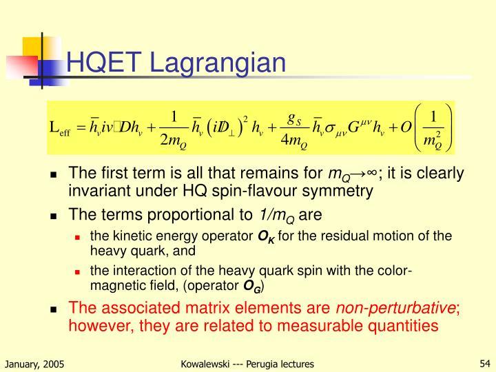 HQET Lagrangian