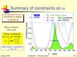 summary of constraints on a