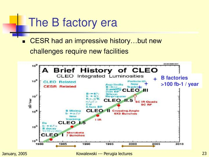 The B factory era