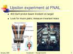 upsilon experiment at fnal