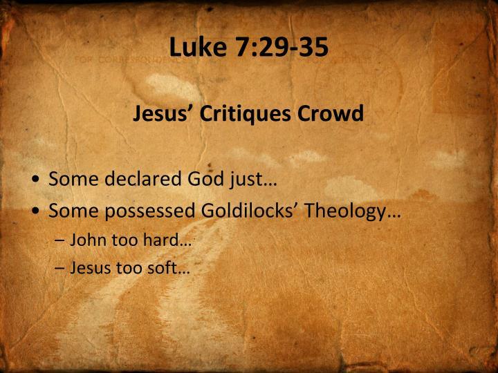 Luke 7:29-35