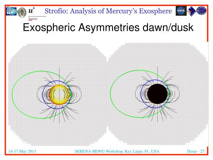 Exospheric Asymmetries dawn/dusk