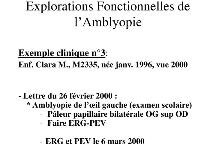 Exemple clinique n°3