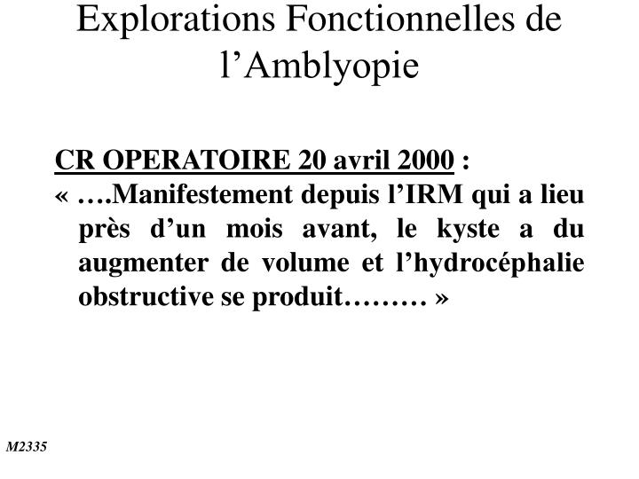 CR OPERATOIRE 20 avril 2000