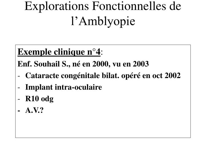 Exemple clinique n°4