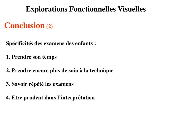 Explorations Fonctionnelles Visuelles