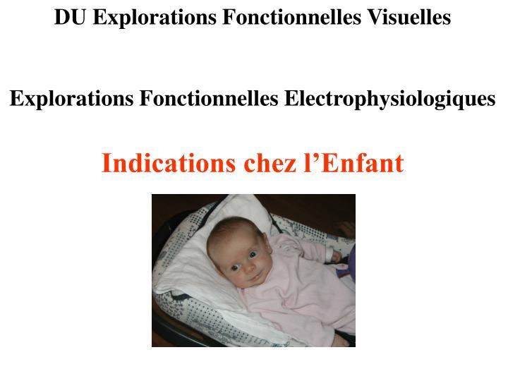 DU Explorations Fonctionnelles Visuelles