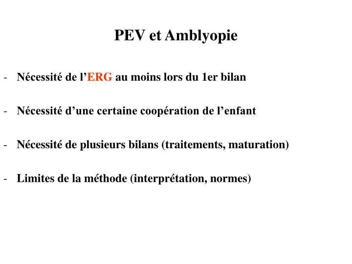 PEV et Amblyopie