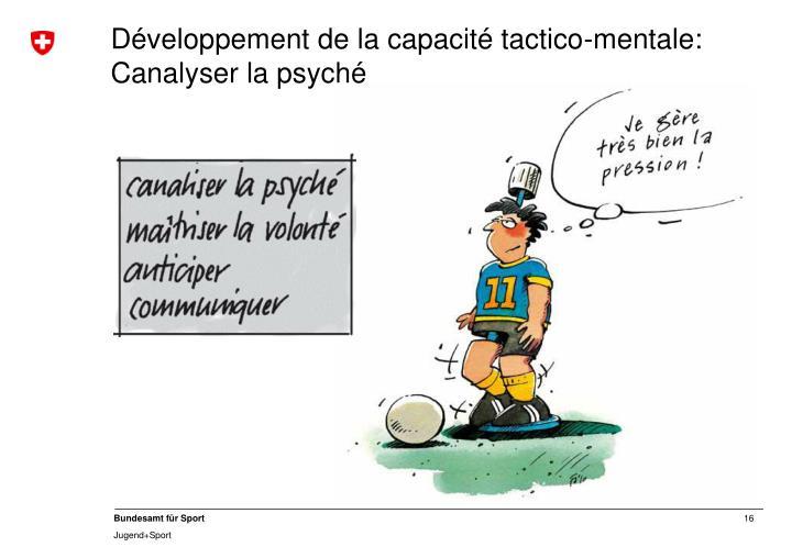Développement de la capacité tactico-mentale:
