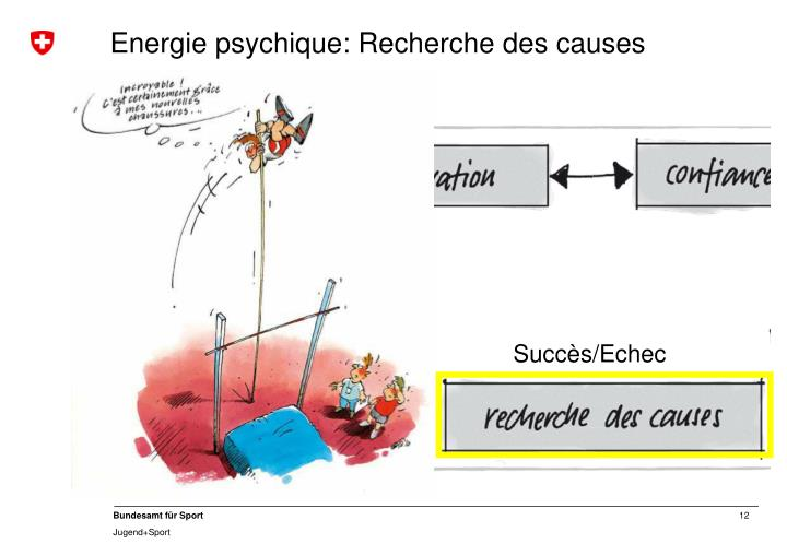 Energie psychique: Recherche des causes