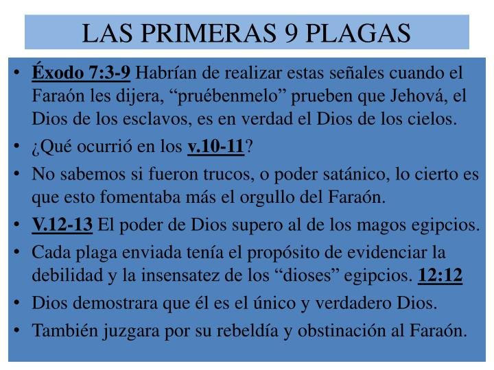 LAS PRIMERAS 9 PLAGAS