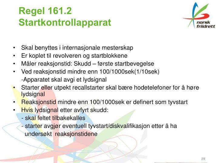 Regel 161.2