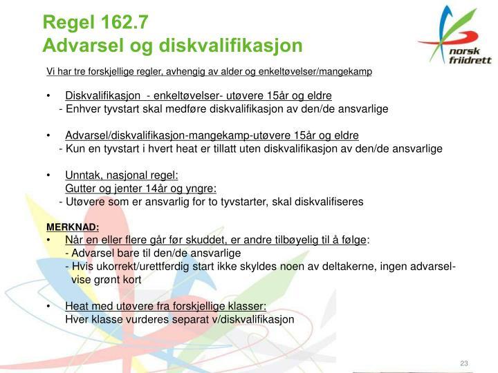 Regel 162.7