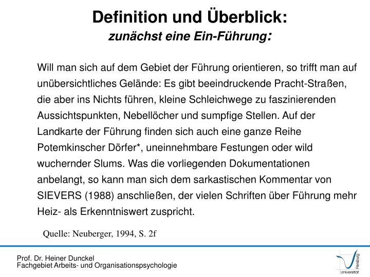 Definition und Überblick: