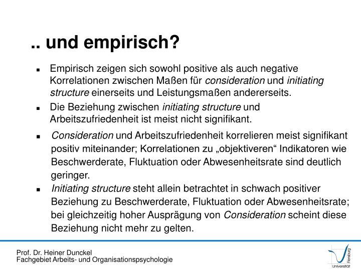 .. und empirisch?