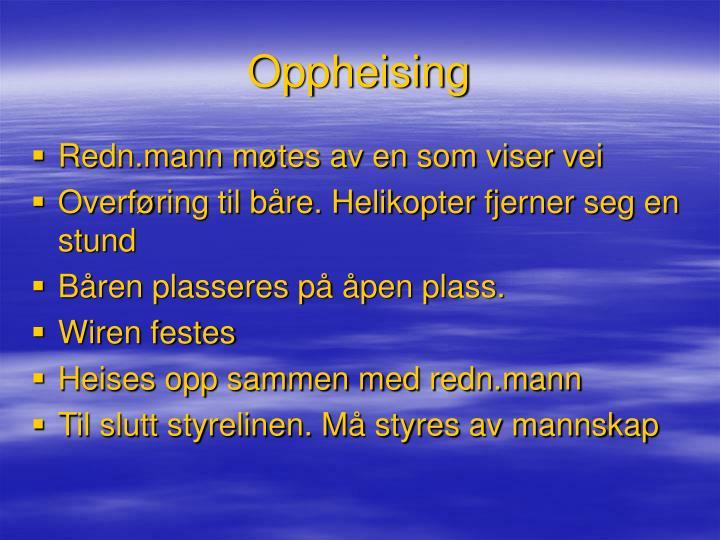 Oppheising