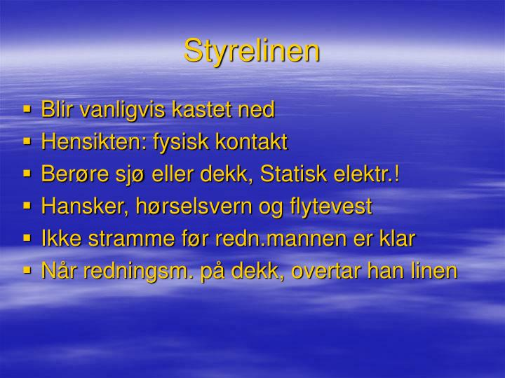 Styrelinen