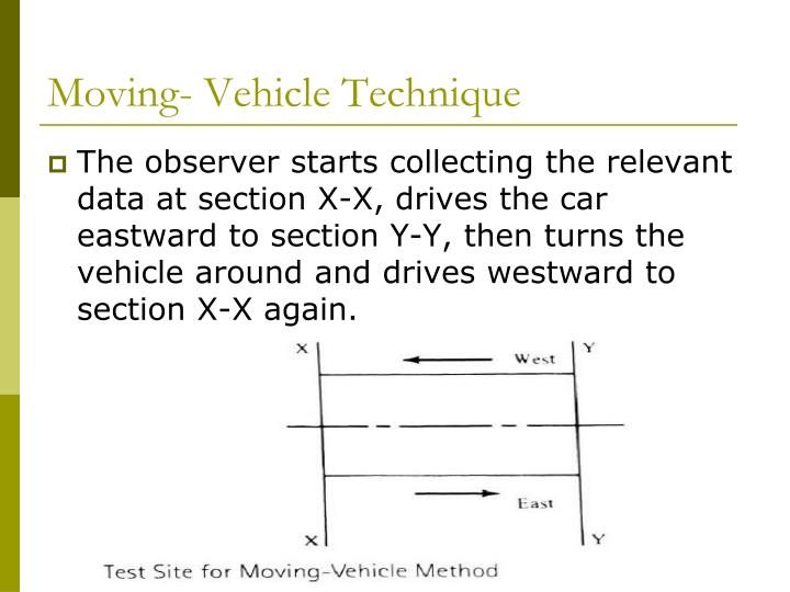 Moving- Vehicle Technique