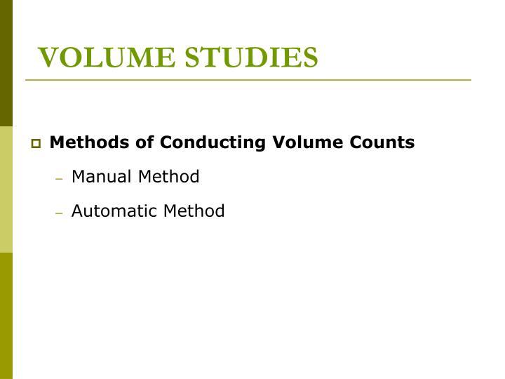 VOLUME STUDIES