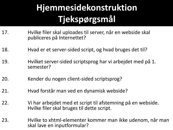 Hjemmesidekonstruktion
