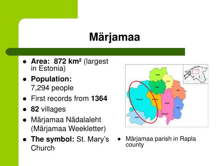 Area:  872km²