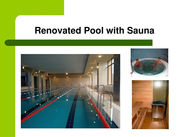 Renovated Pool with Sauna