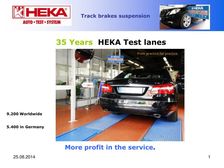 35 years heka test lanes
