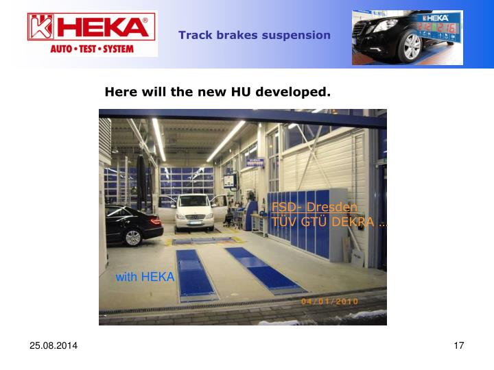 Here will the new HU developed.