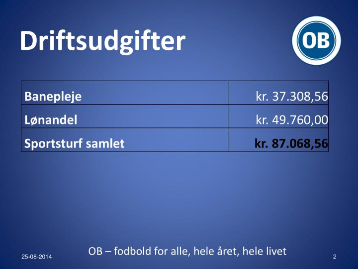 Driftsudgifter