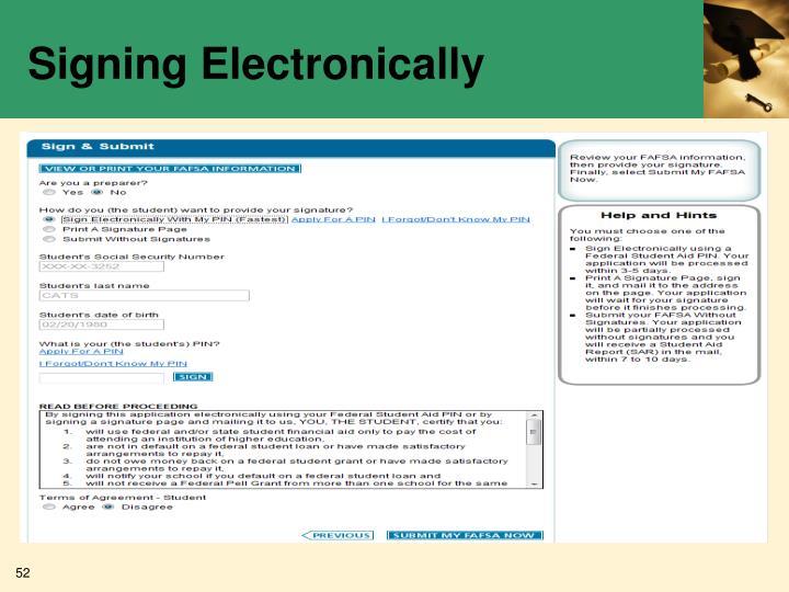 Signing Electronically