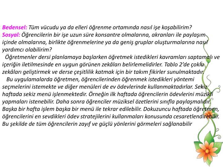 Bedensel:
