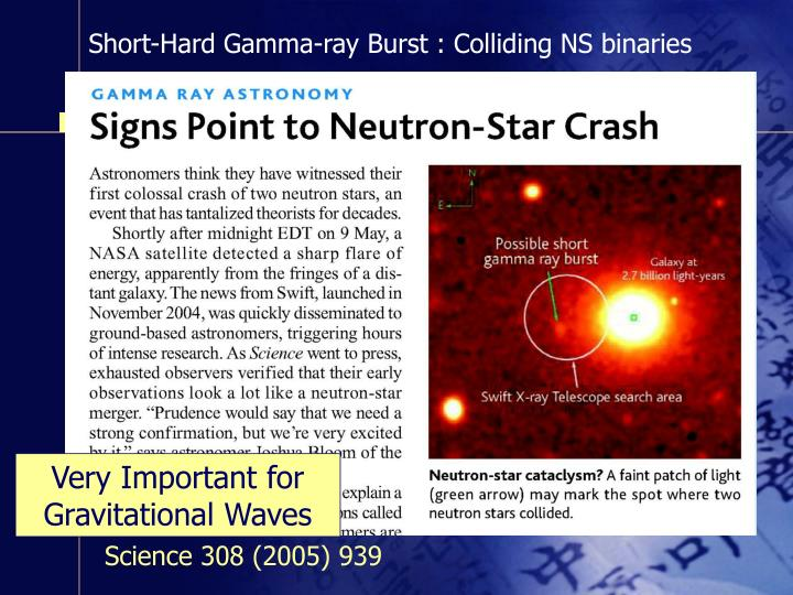 Short-Hard Gamma-ray Burst : Colliding NS binaries