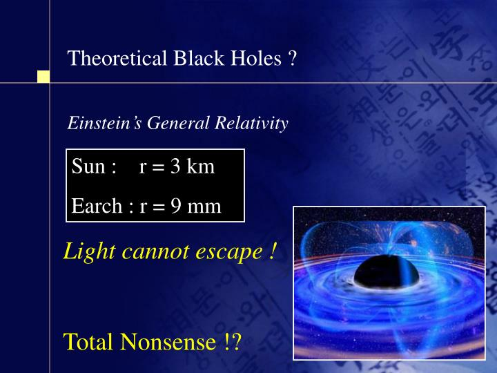 Theoretical Black Holes ?