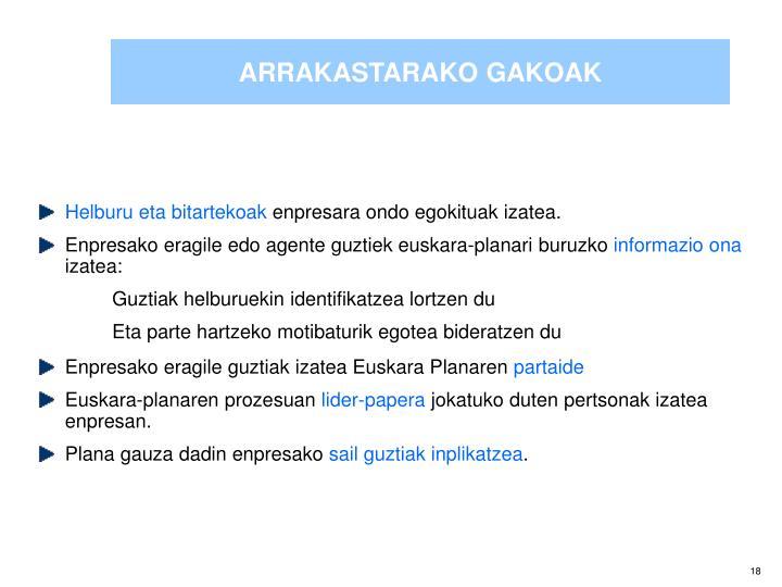 ARRAKASTARAKO GAKOAK