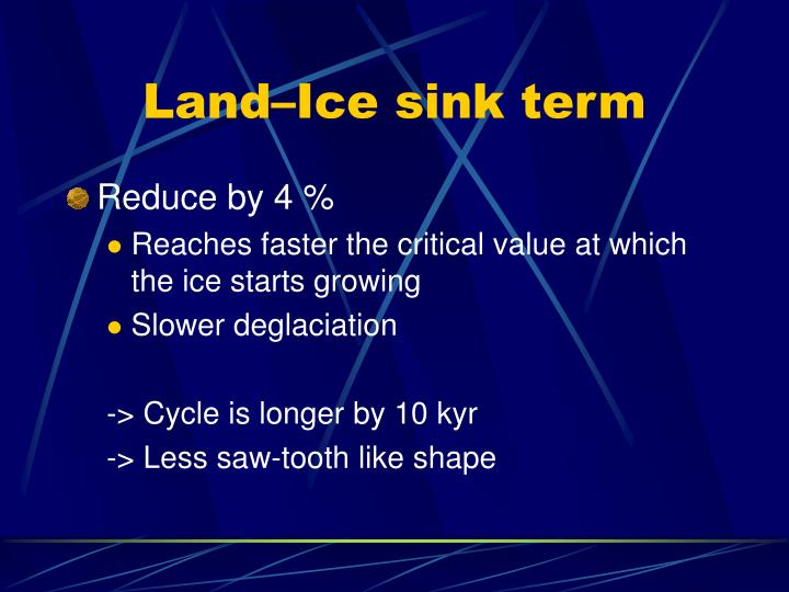 Land–Ice sink term