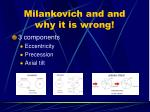 milankovich and and why it is wrong