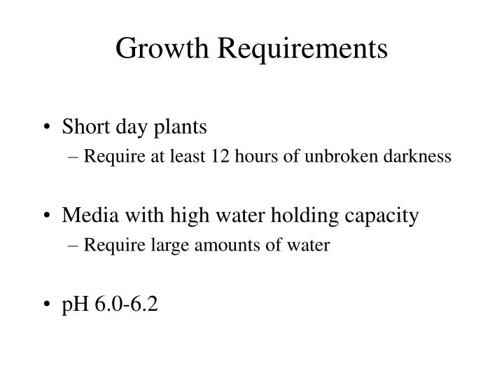 Growth Requirements