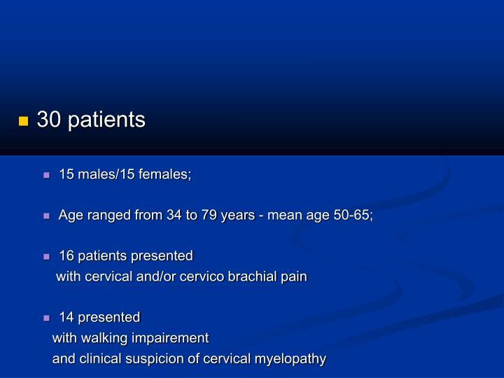 30 patients