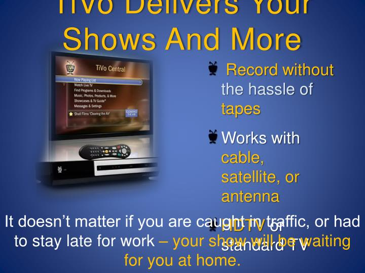 TiVo Delivers Your Shows And More