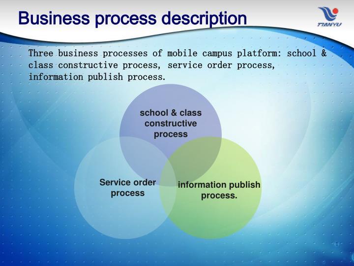 Business process description