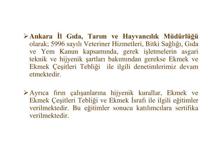 Ankara İl Gıda, Tarım ve Hayvancılık Müdürlüğü