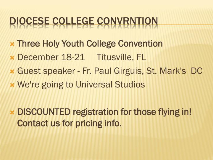Three Holy Youth College Convention