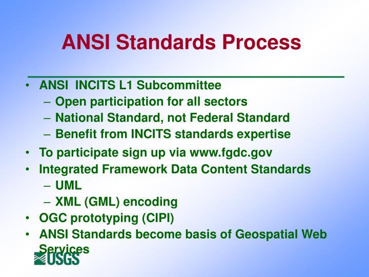 ANSI Standards Process