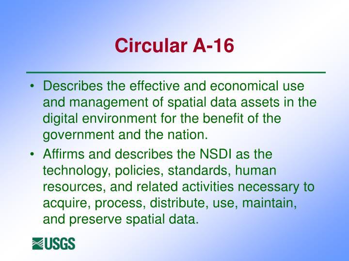 Circular A-16