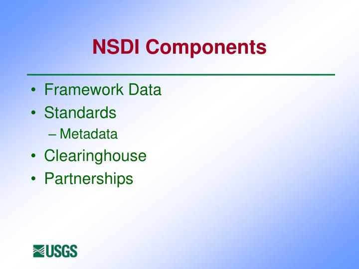 NSDI Components
